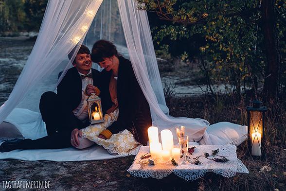 Hochzeit, Herbst, Sachsen, Deutschland, Tagebau, Paar, After Wedding, Feier